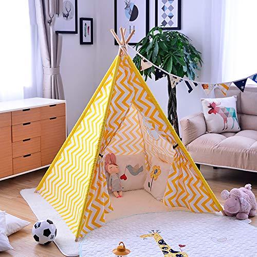 YRE cuña de Lectura de Tienda de campaña de niños, casa en algodón Color Blanco de Juego de Juguete de bebé, approprié (para Interior y Exterior)