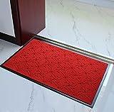 Lily's-uk Love carpet Waschbar Eingangsmatten Antirutschmatte Rub Eingangstüren PVC-Kunststoff-Gummi Veloursmatten (größe : B)