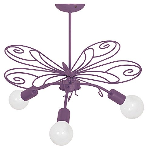 MOTYL III/Schmetterling Lavendel Kinderzimmerleuchte Kinderzimmerlampe Hängelampe Deckenleuchte Deckenlampe Kronleuchter (Lampe Lavendel Kinderzimmer)