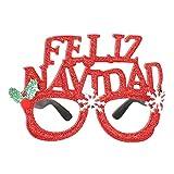 Hukz Weihnachtsdekoration Gläser,Weihnachten Brille Schneemann Frame Frohes Neues Jahr Kinder bevorzugt Weihnachten Geschenk Party Decor (E)