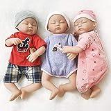 Ánimo Muñeco bebé con 3 Ropas de Moda,Muñeco Vestido con Silicona movible mienbros y Cabeza,Regalo para Niños más Que 3 años.
