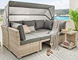 Lounge Destiny Loungegruppe Aruba Sitzgruppe Sofaset Faltdach Polyrattan