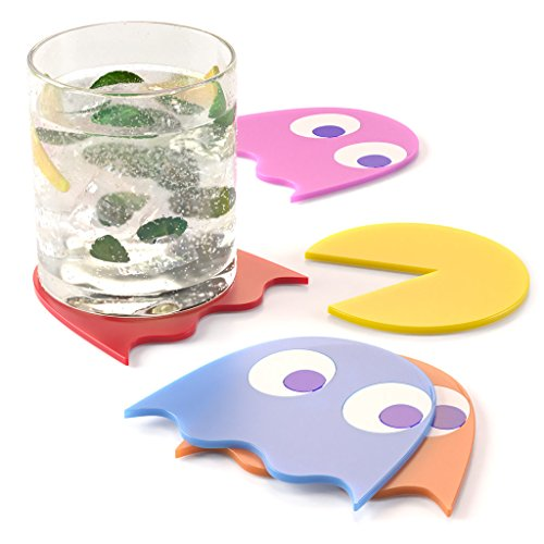 Pac-Man Character Rubber Coaster Set (5)
