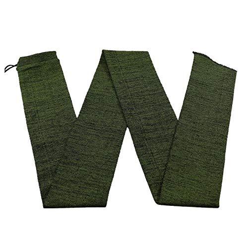 SHUNBAO BAO-Jagd, Polyester Knit Jagdgewehr Luftgewehr Sock Cover Rod Staubdichte Pistole Weiches Tuch Schutz Sock Case Jagd Zubehör (Color : Green S) -