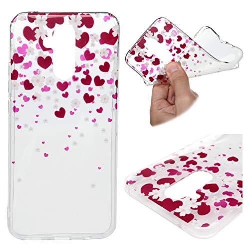 Edauto Huawei Mate 20 Lite Hülle Silikon Case Handyhülle Durchsichtig Transparent Schutzhülle TPU Slim Fit Tasche Silikonhülle Handyhülle Handytasche Backcover Handycover Blumenliebe