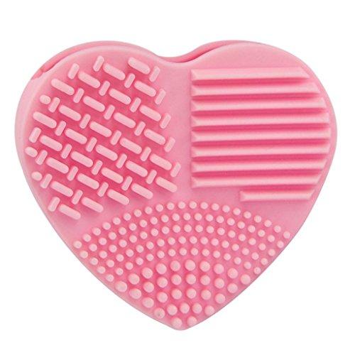 Waschen Kabuki-pinsel (FEITONG Silikon Ei Reinigung Handschuh Make-Up Pinsel Waschen Reinigung (82*74*28MM, Rosa))