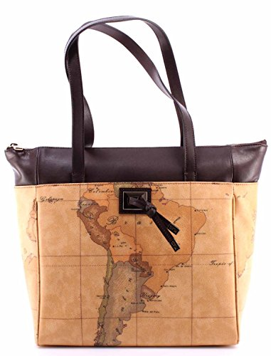 womens-hand-bag-alviero-martini-1aclasse-shopping-bag-dark-brown-geo-beige-new
