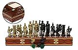 SPARTAN oro 40cm/16 en Roma antigua de plástico metalizados temática figuras en tablero de madera, juego clásico