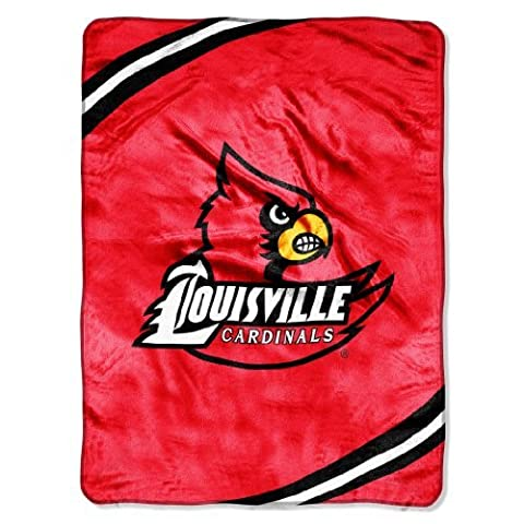 NCAA Louisville Cardinals Force Royal Plush Raschel Throw Blanket, 60x80-Inch by Northwest