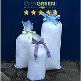 Evergreenweb - Imbottitura Ovatta Cotone Sintetico Alta Qualità per imbottiture cuscini, trapunte, divani, poltrone, peluche, resistente Alte temperature 100% Fiocchi in Fibra di Poliestere Lavabile