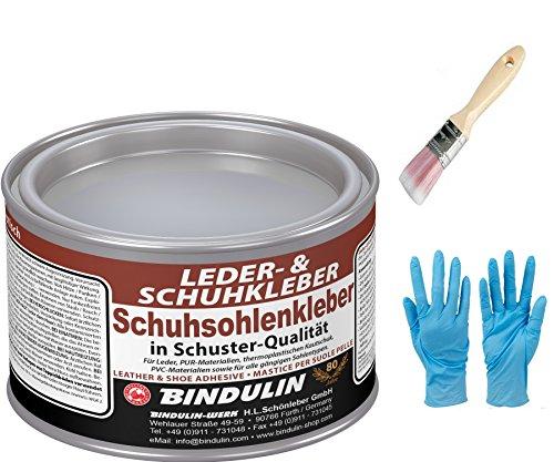 Schuhsohlen- und Lederkleber BINDULIN 350 gr. Dose inkl. 1x synthetischen Pinsel zum Aufragen