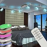 LED Decken Lampe RGB Farbwechsler Beleuchtung Strahler Spot dimmbar Fernbedienung Globo 56119-6