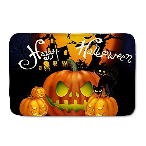 Showudesigns Halloween Design Outdoor Matte Soft waschbar Boden Fußmatte Eintrag Teppiche, Flanell, Color 14, Größe S (Katze Nase Halloween)