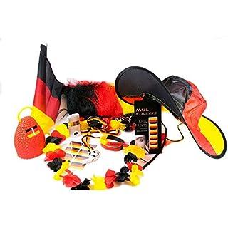 UMOI 25-Teiliges Deutschland Fanartikel Set zur Weltmeisterschaft 2018 WM in Russland (XXL Set)