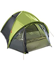 Gregster doppelwandiges Kuppelzelt / Familienzelt für bis zu 4 Personen | Einfach und schnell auszubauen durch Quick UP System | Ideal für Campingurlaube, Festivals & Wochenendtrips