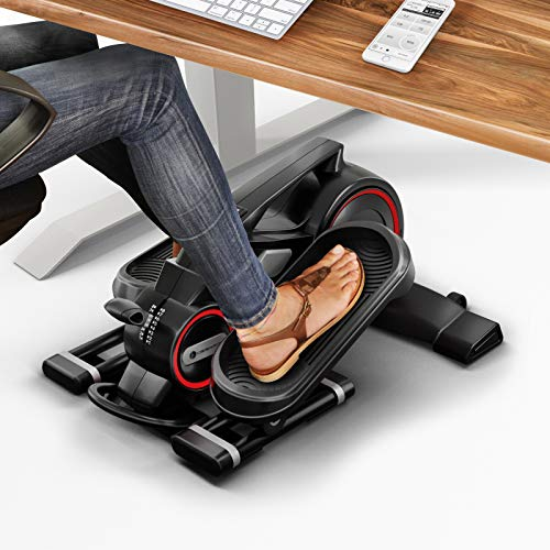 Movement in the office under EVERY desk - Underdesk mini cross trainer with App, Elliptical Deskfit DFX100 exercise bike for health & fitness in everyday life and at home, hometrainer mini elliptical