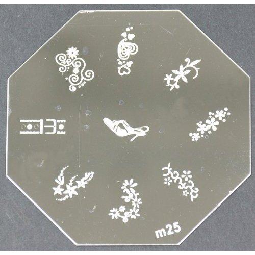 Nail Art emboutissage des tôles - M01 CODE : M25-plaque