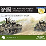 Plastic Soldier 15mm Allied M4A2 Sherman Tanks x5 by Plastic Soldier Company