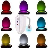 Multicolores WC Veilleuse Lumière Lampe LED, mouvement Active Capteur Lumière Nuit Cuvette de toilettes WC Toilettes 8 de Changements de couleurs