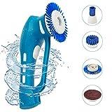 Handliche Reinigungsbürste EVERTOP Elektronik Reinigungsbürste IPX7 Wasserdicht vielfaltige Funktionen Haushalt Bürste mit 4 Borsten(A)
