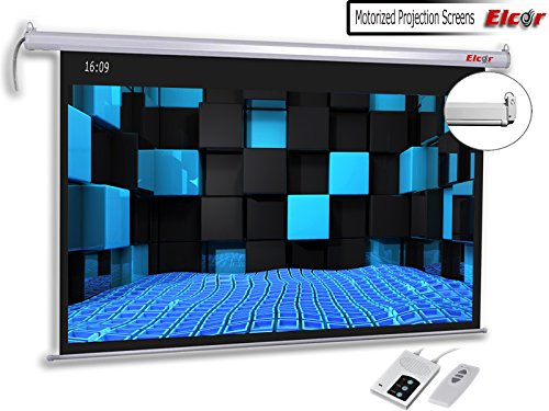 """ELCOR Motorised Projector Screen 6ft. x 10ft. - 133"""" Diag. in 16:09 Aspect Ratio,Active 3D/4K Ultra HD Home Theater Cinema"""