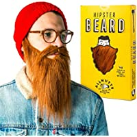 Brown Ginger Hipster Beard - Adult costume beard for stag party fancy dress or when you just need an elastic fake beard and moustache. The perfect false beard dress up facial hair gift