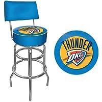 Trademark Gameroom NBA OKLAHOMA CITY THUNDER acolchado giratorio taburete de Bar con respaldo