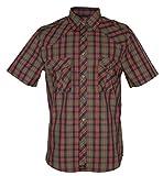 Rock-It Kariertes Herren Hemd Kurzarm Worker Hemd Worker Shirt Freizeithemd Arbeitshemd Made in Europa Größen S-5XL Farbe Olive 3X-Large