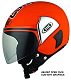 Studds Cub 07 Half Helmet (Orange, XL)