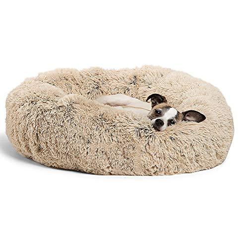 MEIQI Luxus-Shag Fuax Donut Cuddler,M