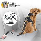 Idepet Pack of 2 Adjustable Pet Dog Car Seat Belts -...
