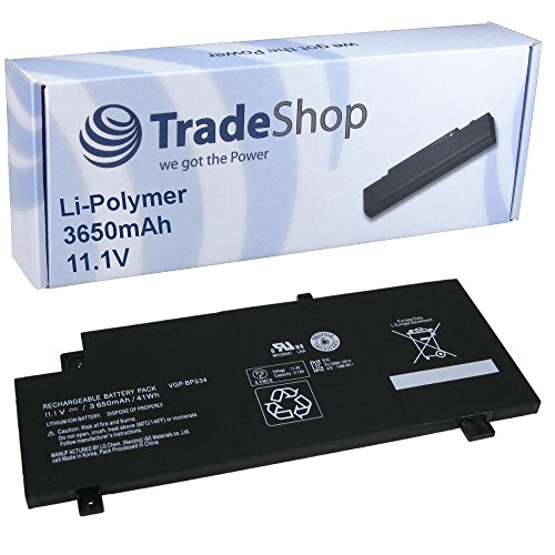 Trade-Shop Hochleistungs Li-Polymer Akku 10.8V/11.1V/3650mAh für Sony F15A16 F15A16SC SVF15A16SC VAIO-CA46 VAIO-CA47 VAIO-CA48 ersetzt VGP-BPS34 VGP-BPL34