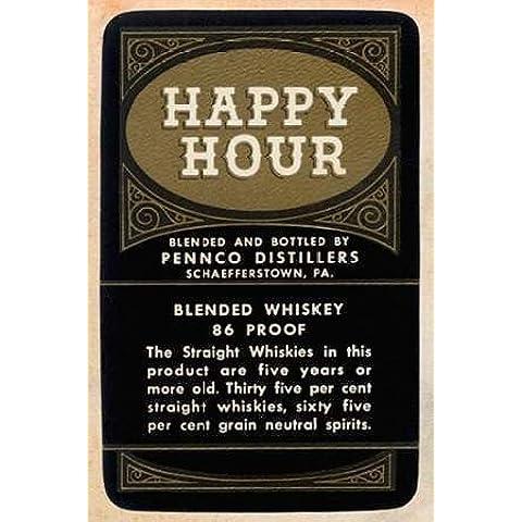 Feelingathome-Stampa-su-tela-intelaiata-Happy-Hour-Blended-Whiskey-cm86x57-canvas-intelaiato - Blended Whiskey