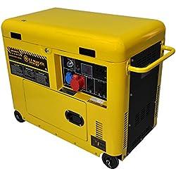Generador eléctrico 6 KW trifásico - Diesel - Grupo electrógeno insonorizado - Arranque eléctrico