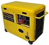 Di Marzio Energy Generador eléctrico 6 KW trifásico - Diesel - Grupo electrógeno insonorizado - Arranque eléctrico