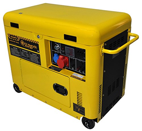 Générateur de courant 6 kw Diesel silencieux - Groupe électrogène - Démarrage...