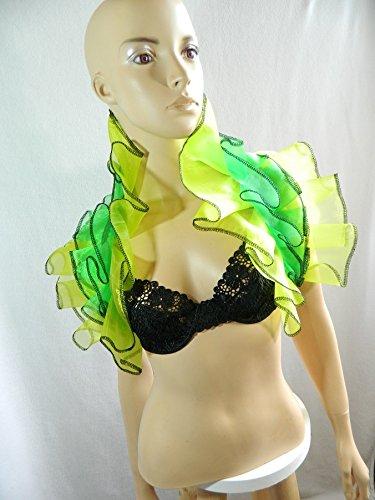 Karneval Kostüm Gurke - Organza Stola gras grün limone Wrap