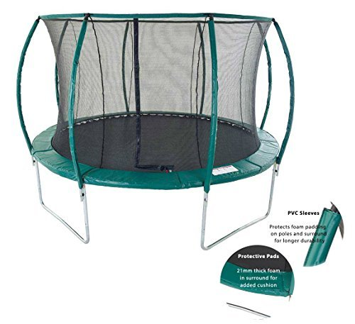 Skyhigh Orbisphere 8/10/ 12/14 Foot Superior Spec Trampoline with Safety Enclosure (14 Foot)