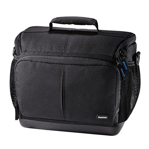 Hama Kameratasche Outdoor (für DSLR Kamera und zwei Objektive, wasserabweisender Hartschalenboden, stoßfest, gepolstert, Innenmaße 22 x 12,5 x 19,5 cm, Ancona HC 140) schwarz