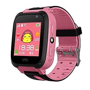Wasserdicht Touchscreen GPS Tracker SMART Handy Uhr mit Schrittzähler Kamera sim Antiverlust SOS Armband Smartwatch für Kinder Geburtstag Geschenke