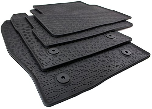 mmimatten Original Qualität Fußmatten Gummi schwarz 4-teilig ()