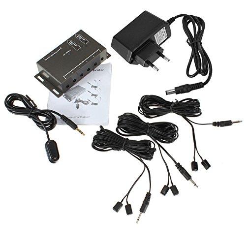 ExcLent Infrarotentfernung 6 Emitter 1 Receiver IR Control Repeater System Kit 1 Ir-emitter