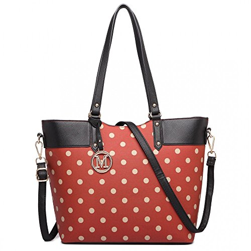 Miss Lulu, Borsa tote donna Red