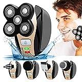 Herren Elektrorasierer mit Pop-Up-Trimmer, Nass- und Trockenrasierapparat USB aufladbar für Bart-, Gesichts- und Kahlkopf-Rasur