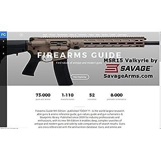Firearms Guide 9th Edition ONLINE - Presents 73,000 guns and 8,000 gun schematics - with Gun Values!