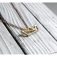 Papierboot Kette Gold