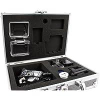 DURAGADGET Maletín/Estuche rígido para cámara deportiva Samsung Gear 360/Ricoh WG-M2/Gearmax W8 Wifi/SJCAM SJ5000 Plus, con gomaespuma personalizable