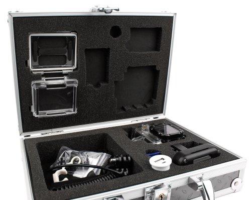 Duragadget Mallette en Aluminium pour Excelvan Tous Modèles (TC-DV6, TC-Y8, TC-J6 et TC-Q5 Étanche 1080P 12MP H.264 WiFi) Caméra + Accessoires - Cadenas intégré - Idéal pour Voyages en Avion