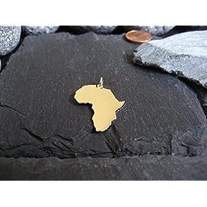 AFRIKA Landkarten Anhänger in 333er, 585er oder 750er Gelbgold