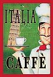 ComCard Italia Caffe Italienisches Kaffee Pisa Schild aus Blech Tin Sign